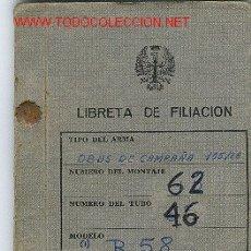 Militaria: MUY INTERESANTE.LIBRITO CON EL HISTORIAL DE UNA PIEZA DE ARTILLERIA. Lote 24729218