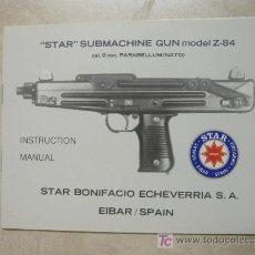 Militaria: CATALOGO DE SUBFUSIL MARCA STAR MODELO Z-84. Lote 171491462