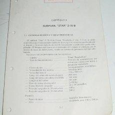 Militaria: SUBFUSIL AMETRALLADOR STAR. MODELO Z-70/B EN CALIBRE 9 MM PARABELLUM - 37 PAGINAS- CARACTERISTICAS, . Lote 25761709