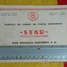 Militaria: MANUAL SUB-FUSIL STAR MODELO Z-45. 20 PAGINAS, 13 FIGURAS Y 2 PLANOS DESPLEGABLES. Lote 36344033