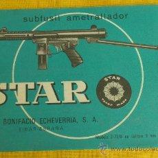 Militaria: MANUAL TECNICO DEL SUBFUSIL AMETRALLADOR STAR MODELO Z-70-B (9MN PARABELLUM). Lote 36344074