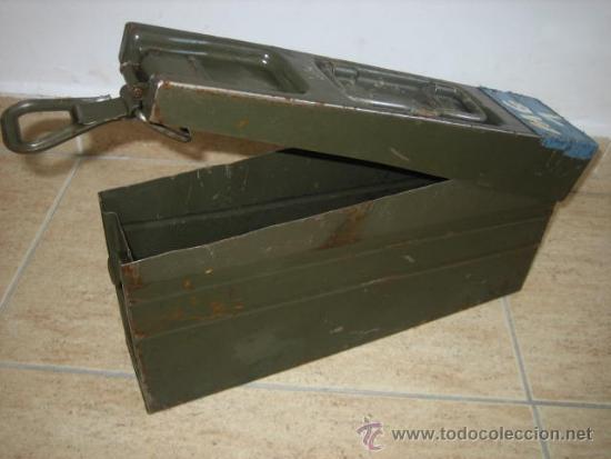 Militaria: Caja metálica ejercito aleman , municion MG3 - Foto 2 - 208924745
