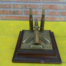Militaria: TROFEO DE GUERRAS DE 3 BALAS AÑO 1904. Lote 38731120