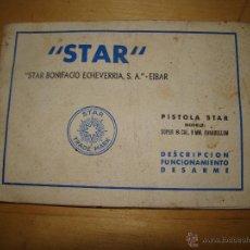 Militaria: ANTIGUO MANUAL DE INSTRUCCIONES DE PISTOLA STAR SUPER B CALL. 9MM PARABELLUM. Lote 48966174