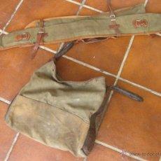 Militaria: MORRAL DE CAZADOR Y LA FUNDA DE UNA ESCOPETA DE CAZA - AÑOS 30 APROXIMADAMENTE. Lote 206572922