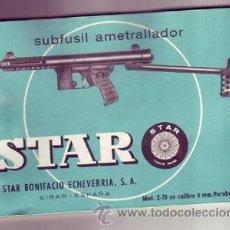 Militaria: MANUAL DEL SUBFUSIL AMETRALLADOR STAR Z70. Lote 52149563