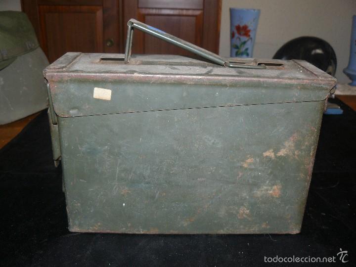 Militaria: Caja vacía de munición de 7,62, hermética, americana - Foto 2 - 57542864