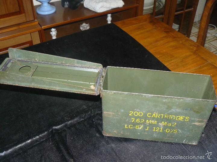 Militaria: Caja vacía de munición de 7,62, hermética, americana - Foto 5 - 57542864