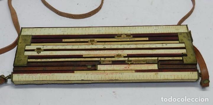 Militaria: Tabla o regla de tiro artilleria, utilizada en las baterías por los oficiales especialistas en obser - Foto 2 - 68008273