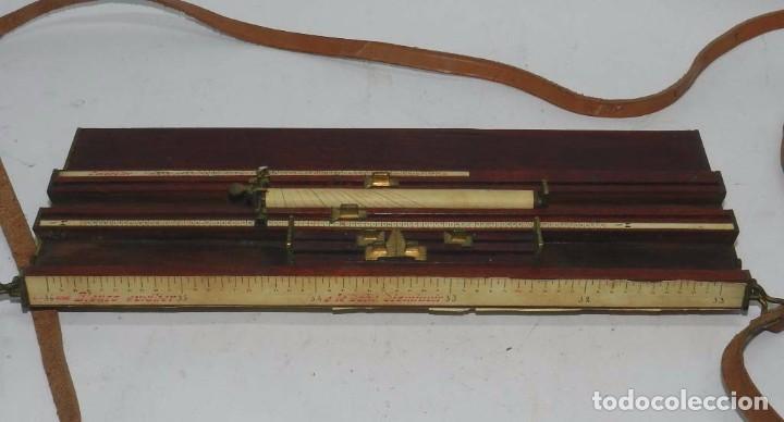 Militaria: Tabla o regla de tiro artilleria, utilizada en las baterías por los oficiales especialistas en obser - Foto 4 - 68008273