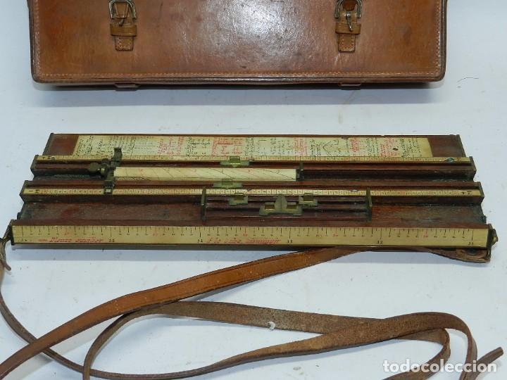 Militaria: Tabla o regla de tiro artilleria, utilizada en las baterías por los oficiales especialistas en obser - Foto 2 - 68008557