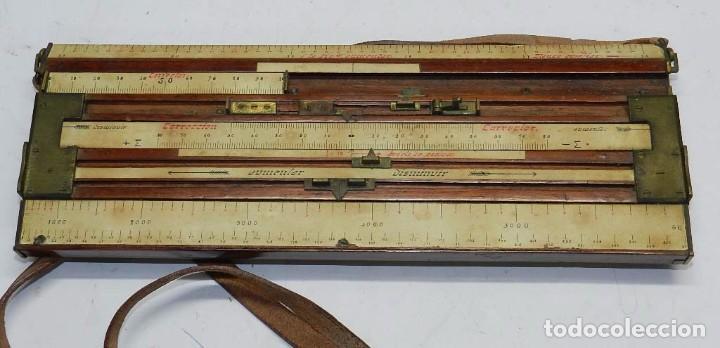 Militaria: Tabla o regla de tiro artilleria, utilizada en las baterías por los oficiales especialistas en obser - Foto 4 - 68008557