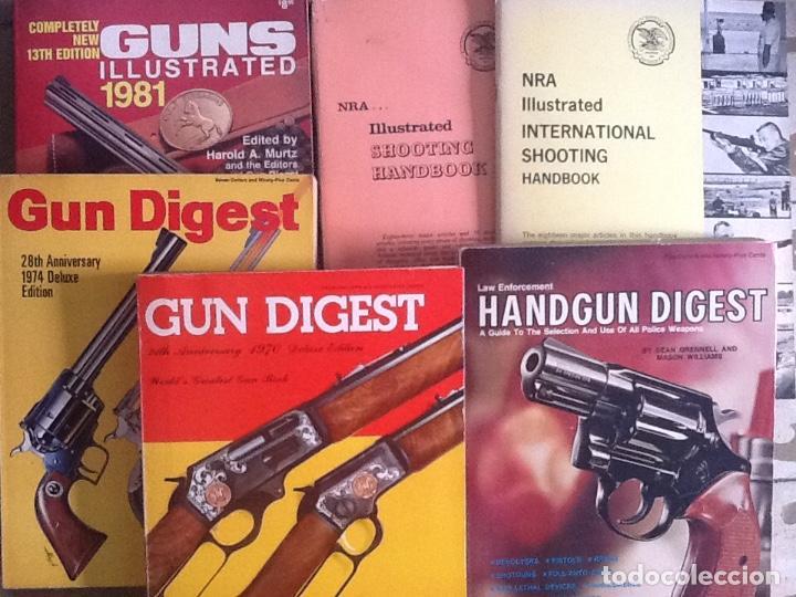 Militaria: Lote de Gun digest (1970-1974, 1981) + Handgun digest + 2 Manuales NRA International shooting - Foto 7 - 91111165