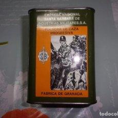 Militaria: LATA DE POLVORA INERTE SATA BARBARA. Lote 97952843