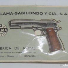 Militaria: CATALOGO DE ARMAS LLAMA-GABILONDO Y COMPAÑIA. AÑOS 50, VITORIA - ALAVA, MODELOS VIII-IX-A, III-A, X-. Lote 98848843