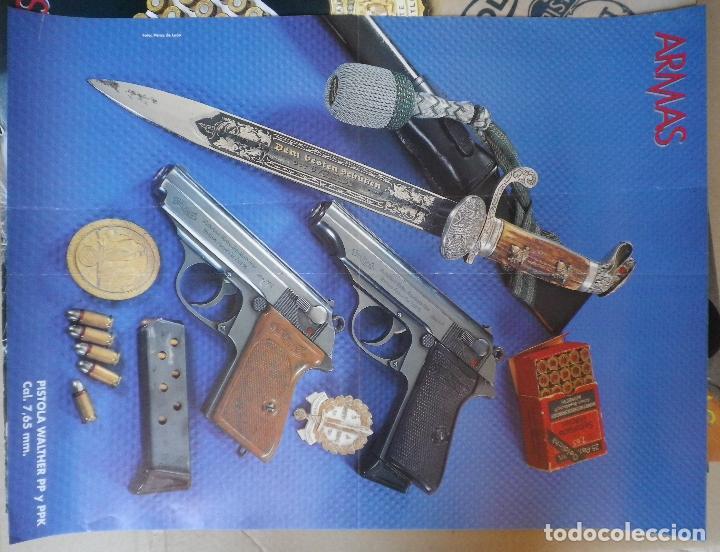 Poster revista Armas, pistola Walther PP y PPK segunda mano