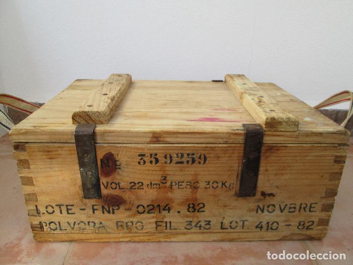 Militaria: Caja de 1000 cartuchos de 7,62 X 51 Nato Español F.N.P. (vacia claro esta) - Foto 2 - 106659903