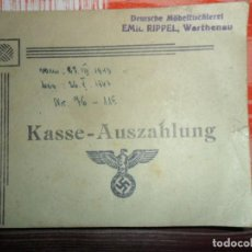 Militaria: LIBRETA VDE VAPUNTES ALEMANA SEGUNDA GUERRA MUNDIAL 1943. Lote 116074587