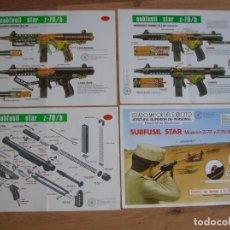 Militaria: CONJUNTO DE LAMINAS DEL SUBFUSIL Z 70 B. ESTADO MAYOR DEL EJERCITO.. Lote 137398230