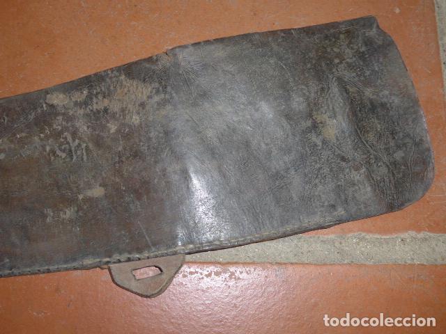 Militaria: Antigua funda de rifle o fusil, seguramente de winchester de finales s.XIX, original - Foto 6 - 149751158