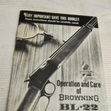 Militaria: MANUAL DEL RIFLE BROWNING BL-22 . Lote 151444770