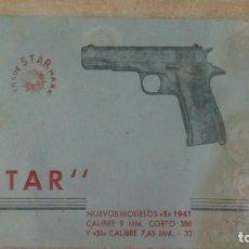 Militaria: + PISTOLA STAR MODELO 1941. MANUAL DE USUARIO. Lote 161776438