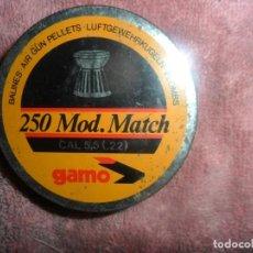 Militaria: CAJA DE BALINES CALIBRE--5--5 CALIBRE 22 MODELO -MACTCH. Lote 166928696