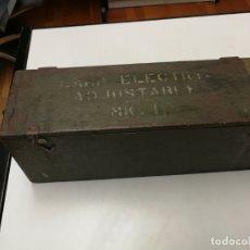 Militaria: CAJA MILITAR MADERA PARA LAMP ELECTRIC ADJUSTABLE MK I MARK I, CARRO COMBATE I GUERRA MUNDIAL . Lote 171243790