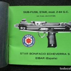 Militaria: STAR-CATALOGO SUB·FUSIL STAR Z-84 G.C. Lote 172071160