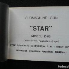 Militaria: STAR-CATALOGO SUBMACHINE GUN=STAR MODELO Z-63=SUBFUSIL AMETRALLADOR. Lote 172397707