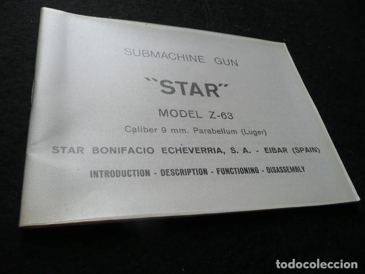 Militaria: STAR-CATALOGO SUBMACHINE GUN=STAR MODELO Z-63=SUBFUSIL AMETRALLADOR - Foto 3 - 172397707