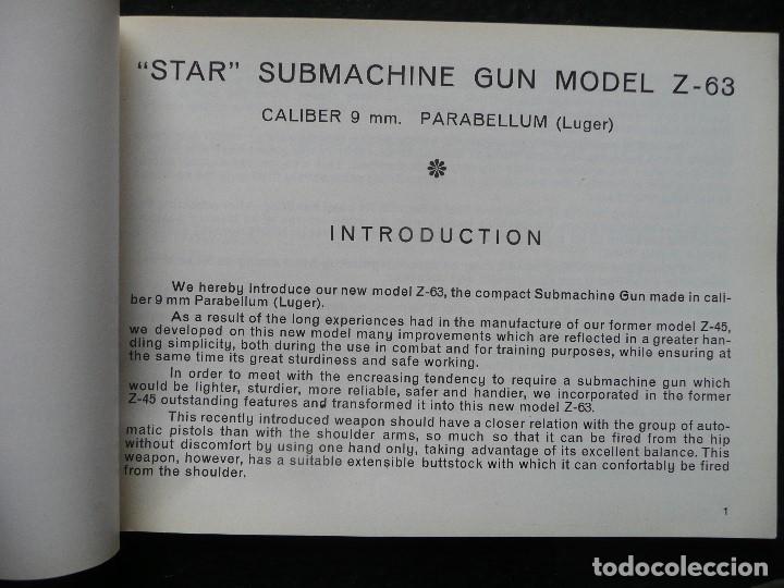 Militaria: STAR-CATALOGO SUBMACHINE GUN=STAR MODELO Z-63=SUBFUSIL AMETRALLADOR - Foto 4 - 172397707