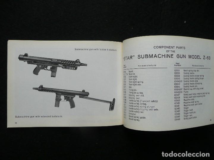 Militaria: STAR-CATALOGO SUBMACHINE GUN=STAR MODELO Z-63=SUBFUSIL AMETRALLADOR - Foto 10 - 172397707