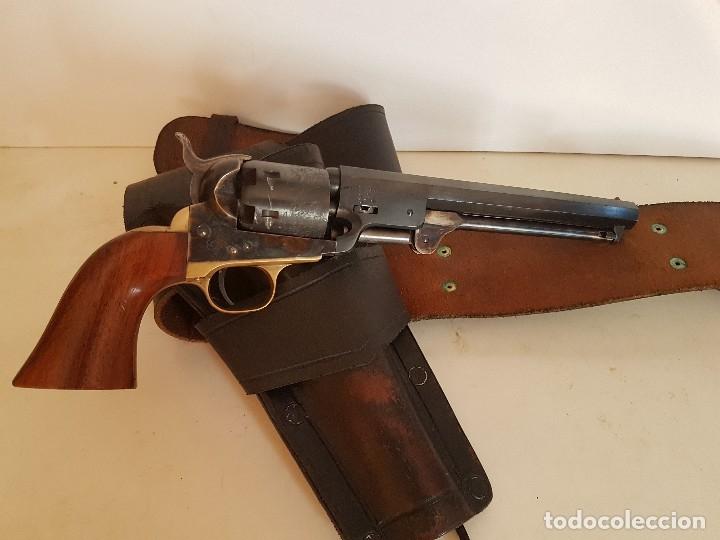 Militaria: CINTURON PARA REVOLVER DEL OESTE TIPO COLT NAVY 1860 - Foto 2 - 172618725