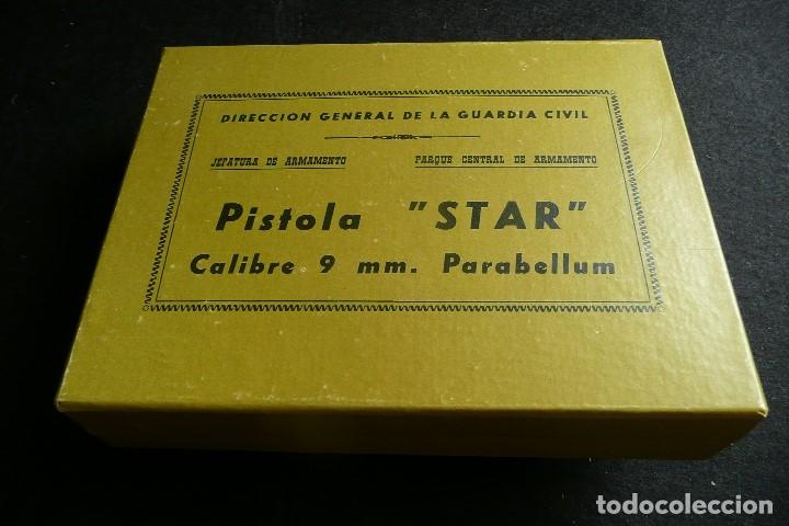 ANTIGUA CAJA/EMBALAJE -PISTOLA STAR 9MM PARABELLUM- (Militar - Otros Artículos Relacionados con Armas)