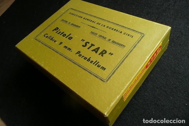Militaria: ANTIGUA CAJA/EMBALAJE -PISTOLA STAR 9MM PARABELLUM- - Foto 3 - 172798469