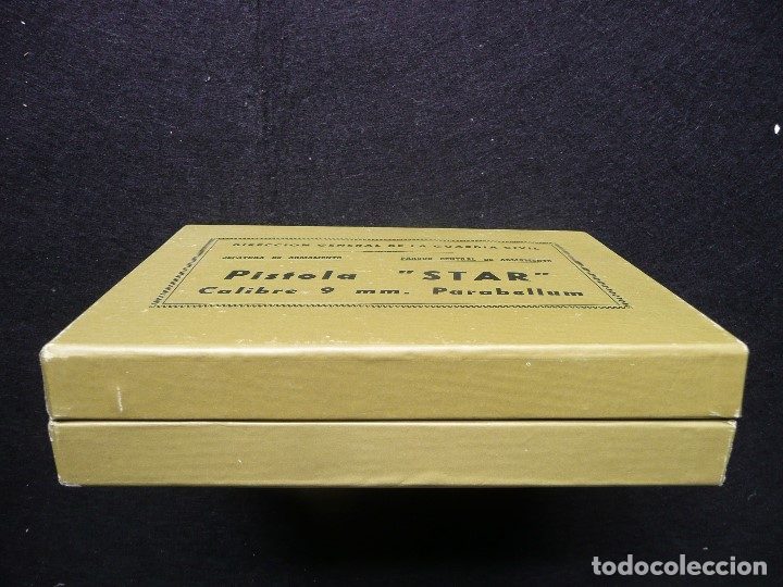 Militaria: ANTIGUA CAJA/EMBALAJE -PISTOLA STAR 9MM PARABELLUM- - Foto 6 - 172798469