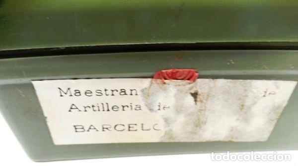 Militaria: CAJA DE PLÁSTICO VACÍA DEL EJÉRCITO PARA 100 MULTIPLICADORES,1970 - Foto 3 - 178830712