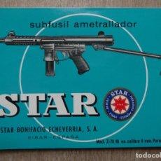 Militaria: CATALOGO=STAR=SUBFUSIL AMETRALLADOR Z-70/B 9MM PARABELLUM. Lote 182670460