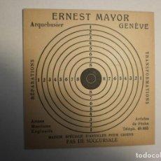 Militaria: DIANA PARA TIRO CON BALÍN ERNEST MAYOR GENÈVE (SUIZA) (EN ESTADO NORMAL Y SIN USO). Lote 184766476