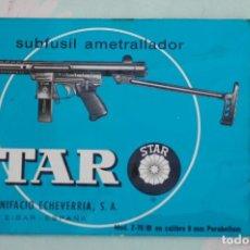Militaria: MANUAL DE USUARIO SUBFUSIL STAR Z-70/B, CAL. 9 MM. PB., GUARDIA CIVIL. ULTIMAS UNIDADES. Lote 195274065