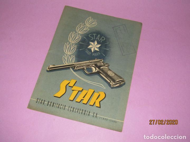 Militaria: Antiguo Catálogo Desplegable de Pistolas STAR de Bonifacio Echevarria S.A. de Eibar - Año 1952 - Foto 4 - 195498285