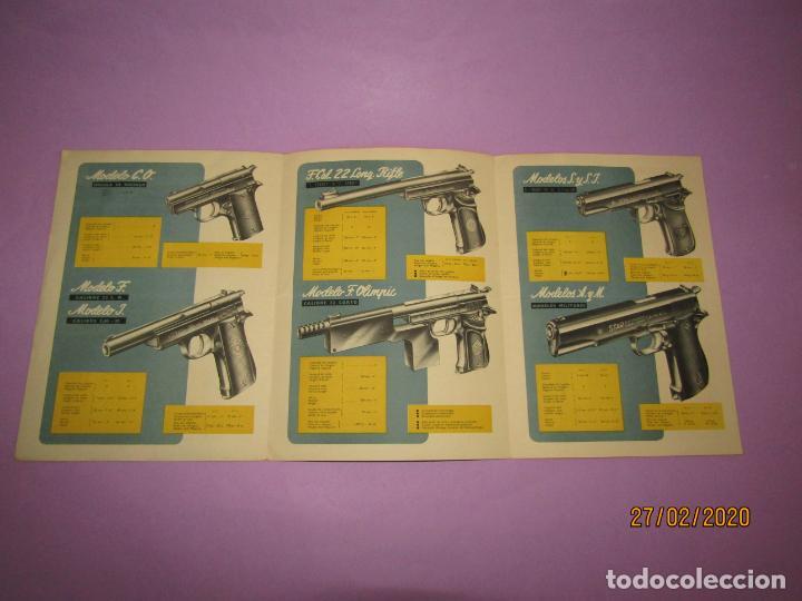 ANTIGUO CATÁLOGO DESPLEGABLE DE PISTOLAS STAR DE BONIFACIO ECHEVARRIA S.A. DE EIBAR - AÑO 1952 (Militar - Otros Artículos Relacionados con Armas)