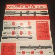 Militaria: (M2) CATALOGO ARMAS, VISOR WALDLAUFER, PRISMATICOS WALDLAUFER , 1 HOJA, SEÑALES DE USO NORMALES. Lote 199157861
