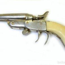 Militaria: 1900 PISTOLA GARRUCHA BRASILEÑA ROSSI, CACHAS EN COLMILLO DE ELEFANTE (FEMENINA, PARA LIGA DE MUJER). Lote 211408440