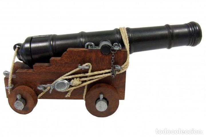 Militaria: Cañón de la marina inglesa, siglo Siglo XVIII - 28.CM Peso: 1.050 g Época: Colonial y Pirata 1492-S - Foto 7 - 213774625