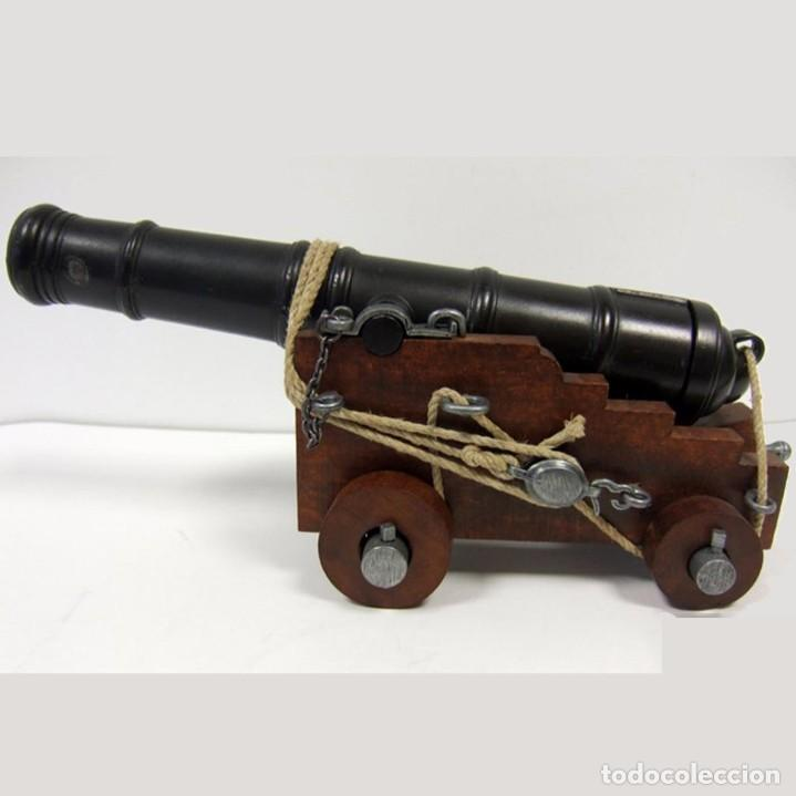 Militaria: Cañón de la marina inglesa, siglo Siglo XVIII - 28.CM Peso: 1.050 g Época: Colonial y Pirata 1492-S - Foto 9 - 213774625