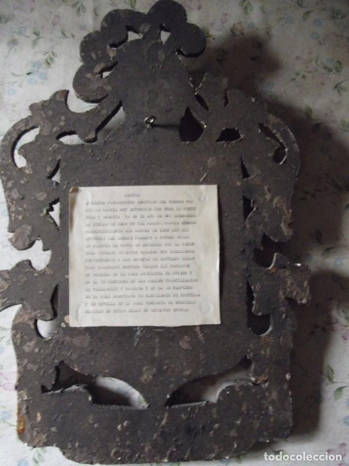 """Militaria: Escudo De Armas y Heráldico """" GARCIA """" de Madera antiguo con información al dorso - Foto 5 - 214859463"""