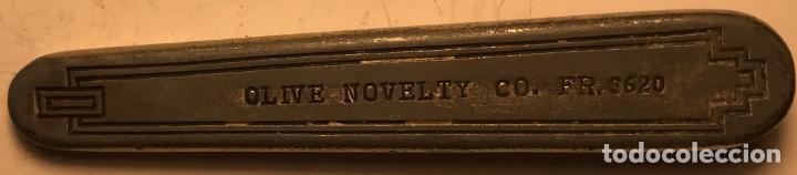 Militaria: Cuchilla plegable norteamericana, de mediados del siglo XX. Marca Olive Novelty Co - Foto 10 - 217640901
