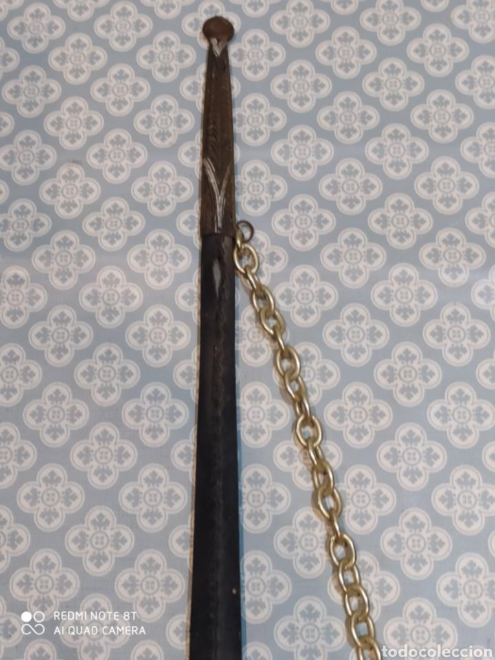 Militaria: Preciosa daga antigua con mango de metal y todo tipo de detalles con funda original - Foto 5 - 221501867